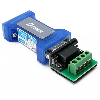 Dtech 9 Pin Rs232 To Rs485 Serial Converter Adapter Surge Protection With Led