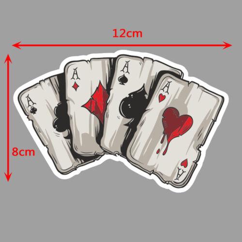 3M Poker Playing Cards Car Truck Window Laptop Helmet PET Decal Sticker