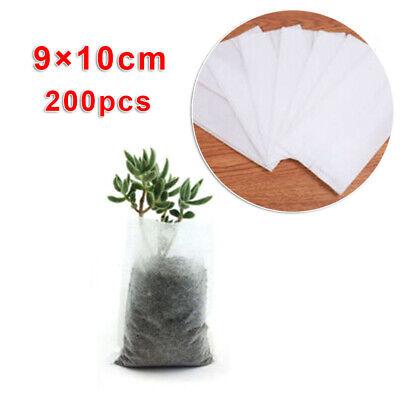 200× Pflanzbeutel Pflanzsack Aus Vliesstoff Pflanz Taschen Biologisch Abbaubar