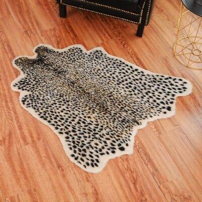 Faux Zebra Print Rug - Animal Printed Zebra Leopard Tiger Cow Hide Faux Fur Rug Carpet Blanket Washable