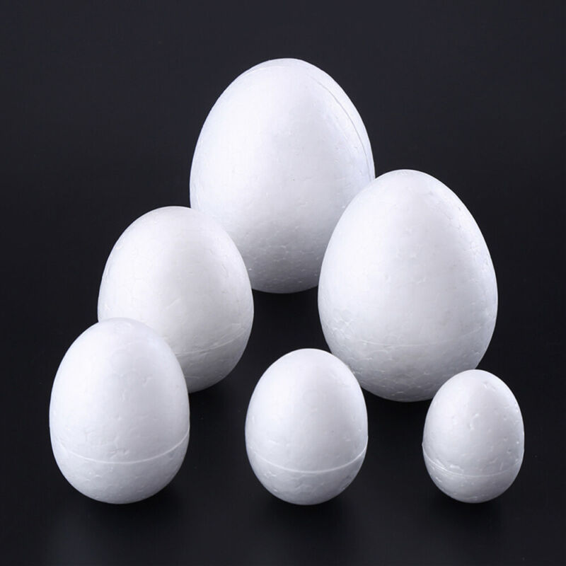 Gifts Ball Toys White Craft Balls Foam Egg Easter Party Deco