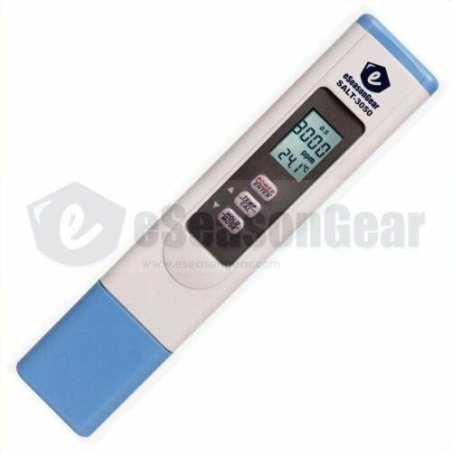 eSeasongear SALT-3050 Waterproof Salinity NaCl Salt Meter Tester for Pool & Pond