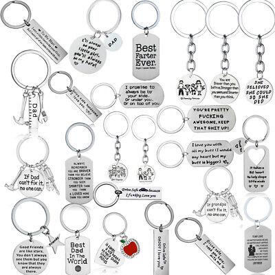 Metal Keychain Family Love Key Chain Best Friend Keyring Friendship Key