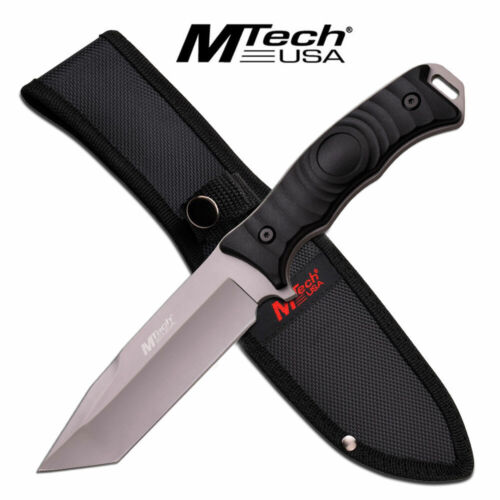 Mtech FIXED-BLADE TACTICAL KNIFE Black Tanto Full Tang Combat Blade Survival