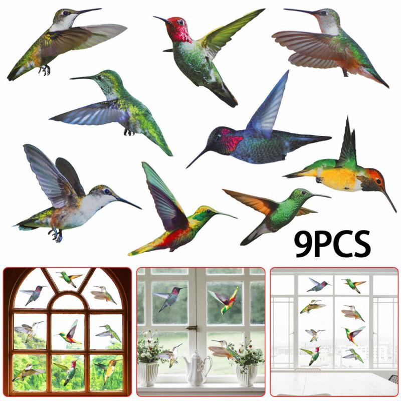 Home Decoration - 9Pcs Creative Hummingbird Stickers Glass Bird Decals Window Clings Home Decor A~