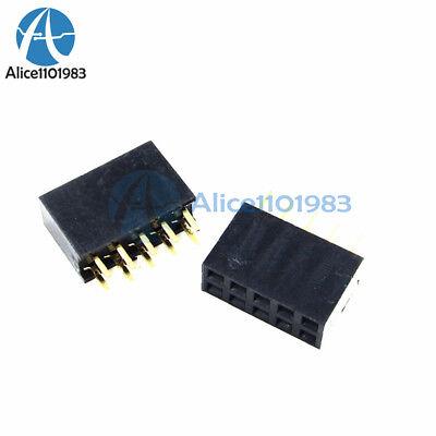 20pcs 2x5 10pin 2.54mm Double Row Female Straight Header Pitch Socket Pin Strip