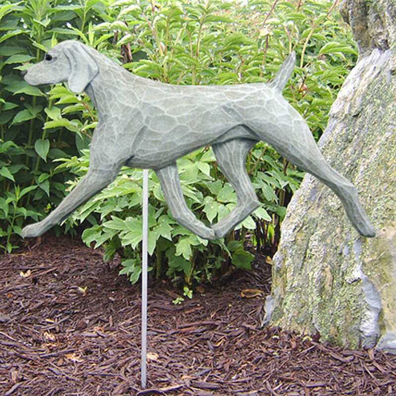 Weimaraner Outdoor Garden Sign Hand Painted Figure