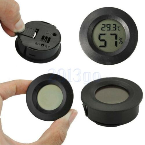 Mini Indoor Outdoor LCD Hygrometer Humidity Thermometer Round Temperature CG