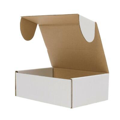 White Corrugated Shipping Mailer Packing Box Boxes 6x4x2 6x4x3 6x4x4 50 100 200