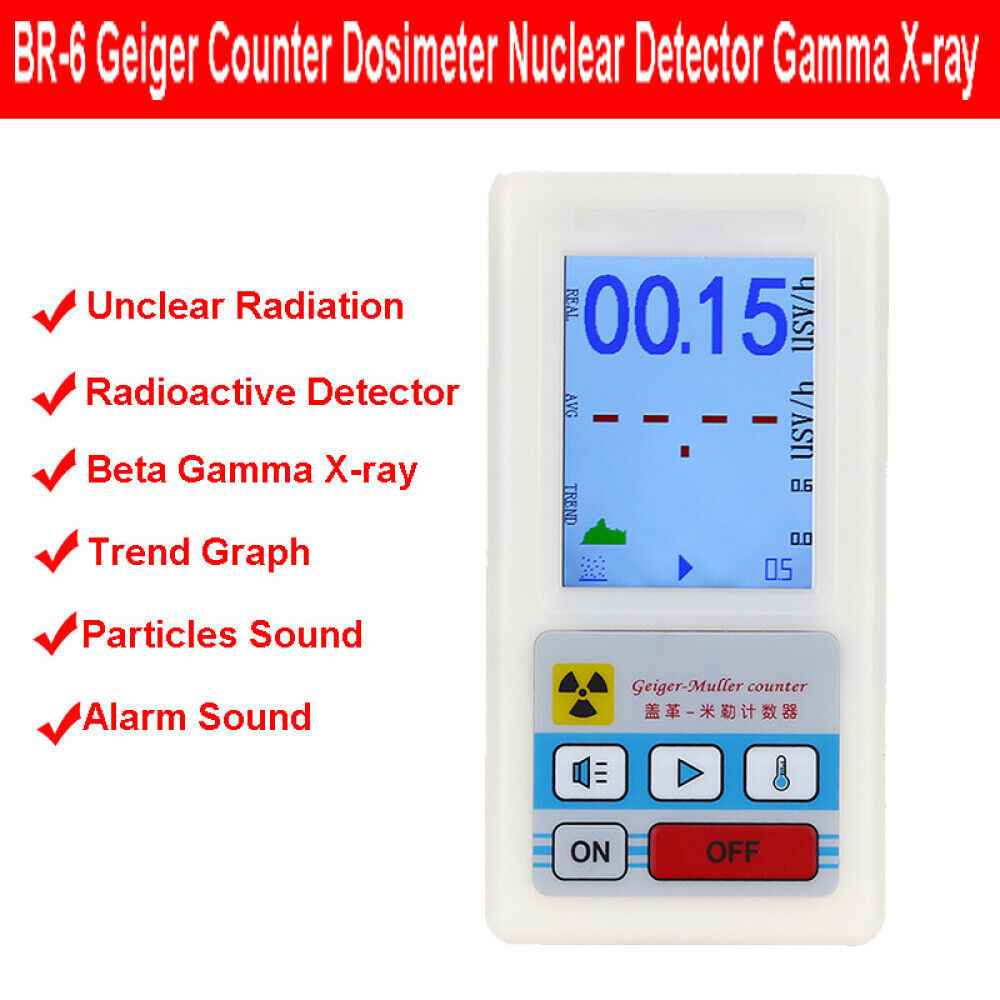 BR-6 Tester X-ray Meter Nuclear Radiation Detector Dosimeter Geiger Counter Y7V1