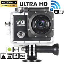 FULL HD WiFi 12MP 1080P IMPERMEABILE SPORT DV ACTION CAMERA VIDEOCAMERA CASCO