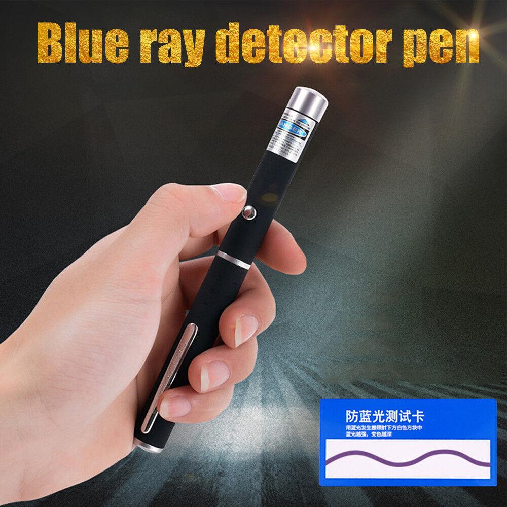 New LED Anti Blue Light Glasses Test Pen Detection Phone Light Beam Pen Portable