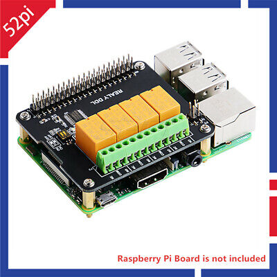 Raspberry Pi 4 Channel Relay Hat Board Module Expansion Board For Rpi 23 Bb