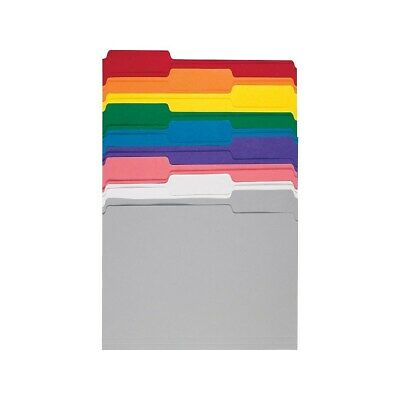 Staples Colored Top-Tab File Folders 3 Tab 9 Color Assortment Letter 100/PK