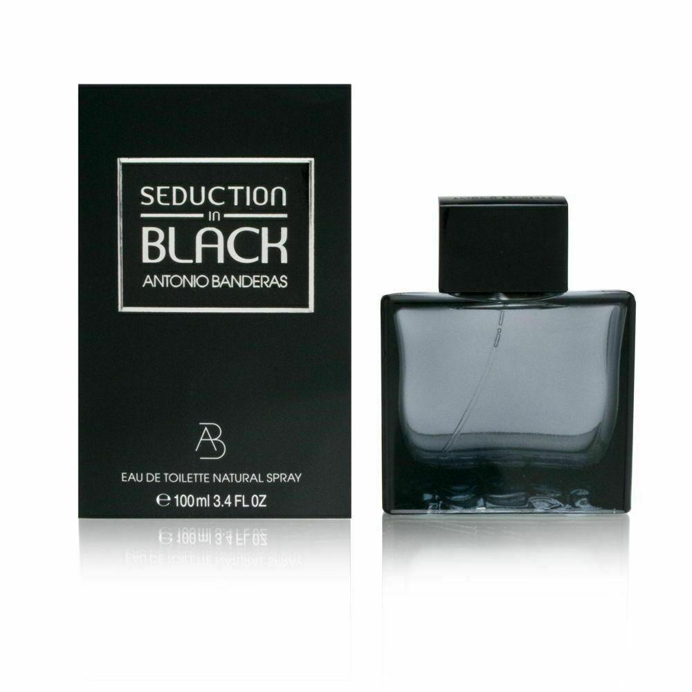 Detalles de Antonio Banderas Seduction en Negro (M) 101ml EDT Spray Nuevo en Caja