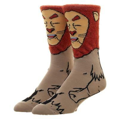 The Wizard of Oz Cowardly Lion Character Crew Socks