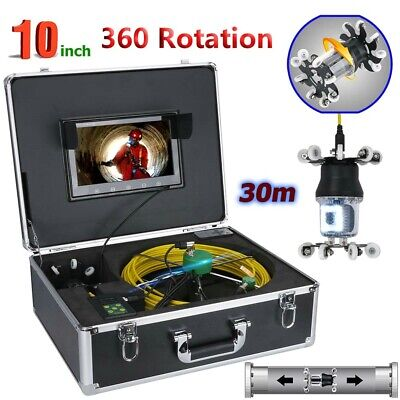 30m Sewer Pipe Pipeline Drain Inspection Video System 10lcd 360 Degree Camera