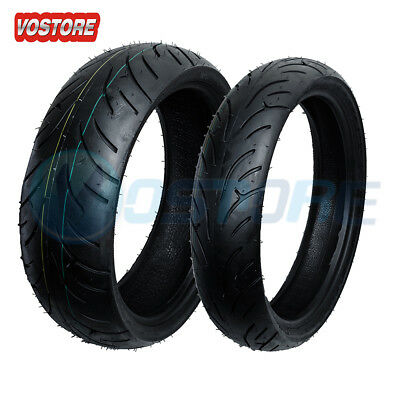 Front Rear Motorcycle Tires 120/70-17 & 180/55-17 for Honda CBR 600 R6 GSXR 750
