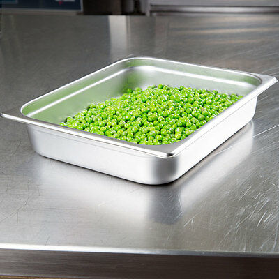 4-pack -- Half Size 2 12 Deep Stainless Steel Hotel Steam Table Food Pans