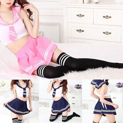 Outfit Uniform Sailor Girl Students School Japanese Anime Costume Party Modal ()