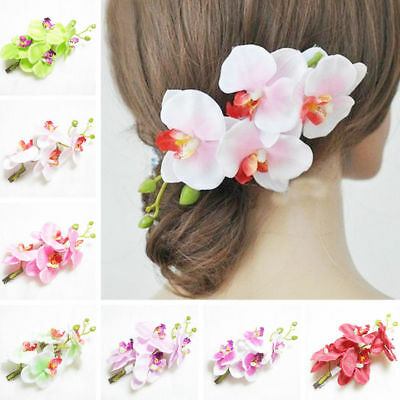 Artificial Silk Flowers Women Hairpin Hawaiian Hair Clip Wed