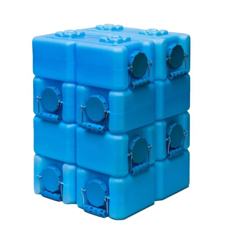 WaterBrick 3.5 Gallon BPA Free Stackable Water Food Storage Container Pack of 8