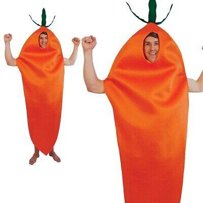 Herren Karotte Kostüm Erwachsene Damen Essen und Trinken Kostüm Outfit Neu