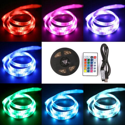 LED 5050 RGB Strip Licht Batterie Betrieben mit Fernbedienung Mehrfarbige Band
