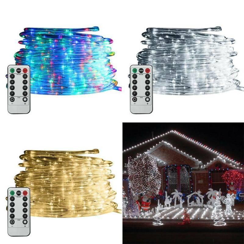 39FT 120 LED Outdoor Strip Rope Lights Fairy String Garden P