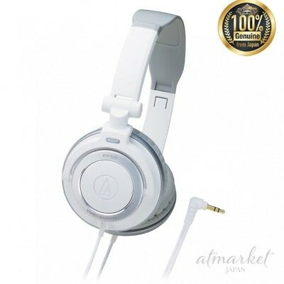 (NEW Audio Technica ATH-SJ55 WH White Portable Headphones genuine from JAPAN)