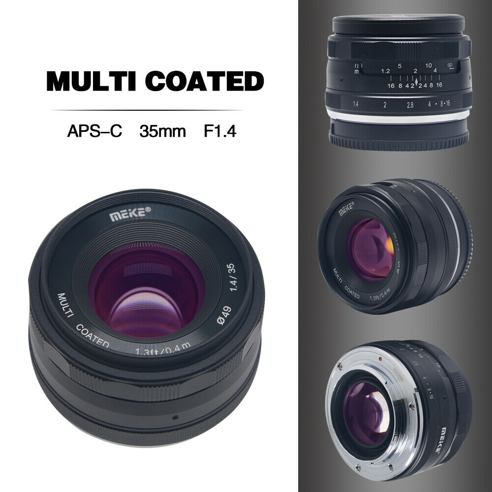 Meike 35mmF/1.4 Standard Fixed Focus Lens For Fujifilm X mou