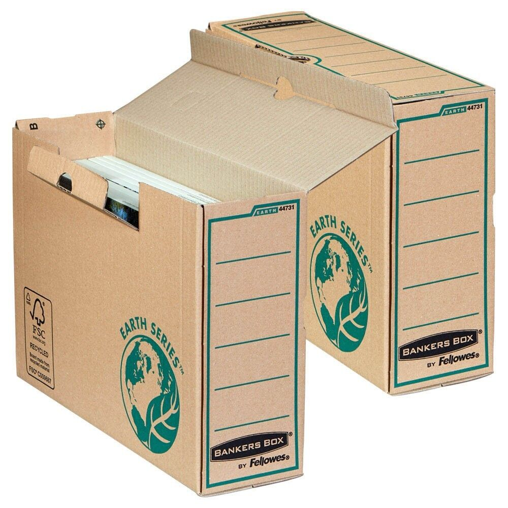 20 Stück Fellowes Archivboxen Bankers Box - Breite 10 cm Earth Series A4+