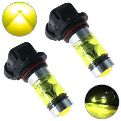 2x Best 4300K Yellow High Power 100W 2323 LED 9006 HB4 Fog Driving Light (Best Yellow Fog Lights)