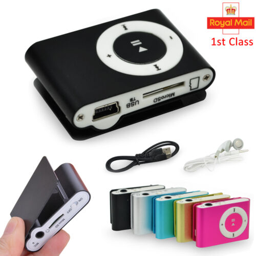 Mini Practical USB Clip MP3 Player 16GB Micro LCD Music Media UK Stock