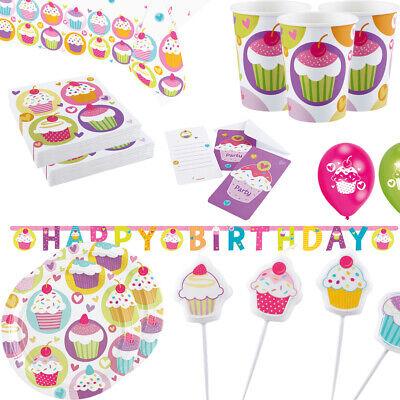 Kinder Geburtstags Party Cupcake Fest Große Auswahl Deko Becher Teller     (Cupcake Party Becher)