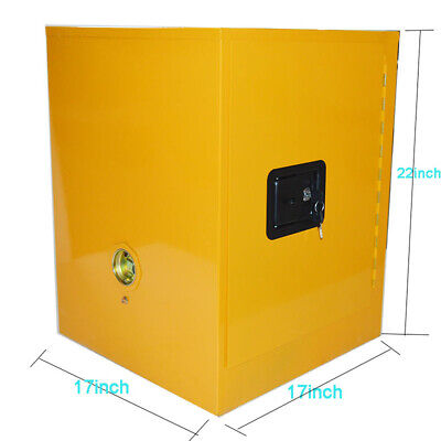 4 Gal.steel Yellow Safety Fireproof Flammable Cabinet Storage Liquid Cabinet