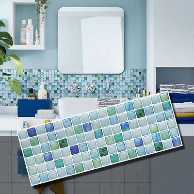 BEAUSTILE Decorative Stickers Peel Stick Backsplash retardant tile Sapphire Blue