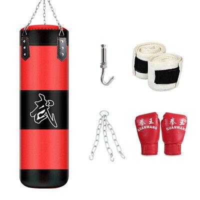 CA Chain JP Boxing Punching Bag Set Unfilled Heavy Punch Bag Wall Bracket