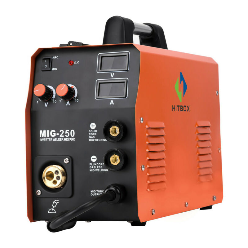 HITBOX 3in1MMA Stick Lift TIG MIG MIG250 Welding Machine MAG Gas Gasless Welder