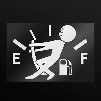 1pcs Funny Car Vinyl Sticker High Gas Consumption Decal Fuel Gage Empty Sliver, used for sale  China
