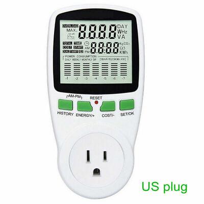 Useuau Plug Lcd Electricity Power Meter Energy Analyzer Watt Amps Volt Monitor
