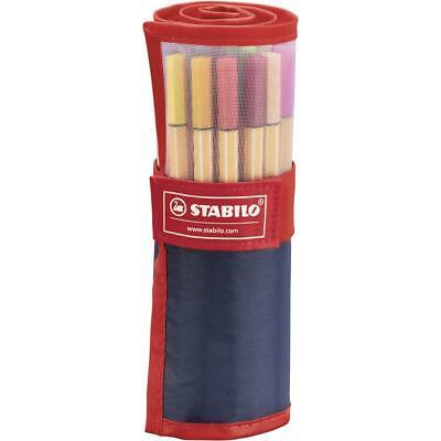 STABILO Pen 88 25er Rollerset Fan Edition rot Premium Fineliner mit 25 Farben