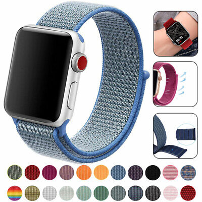 for Apple Watch iWatch Series 5 4 3 38/40/42/44mm Nylon WOVEN Sport Loop Band