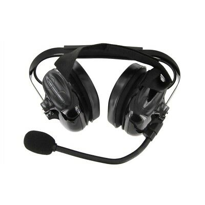XLT HS500 Heavy Duty Dual Muff Headset with PTT and Mic and QD Cable $150