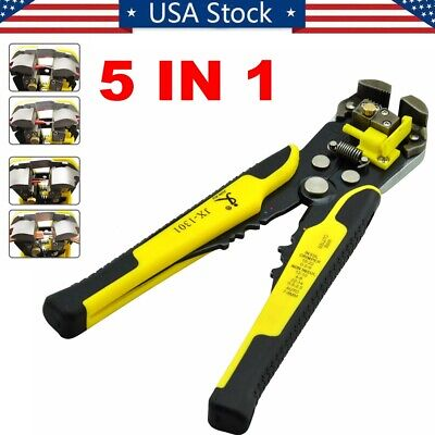 Automatic Cable Wire Stripper Cutter Hand Crimper Terminal Stripping Tools Usa