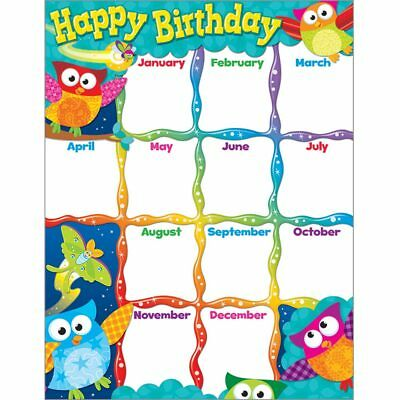 Happy Birthday Owl-Stars!� Learning Chart Trend Enterprises Inc. T-38452