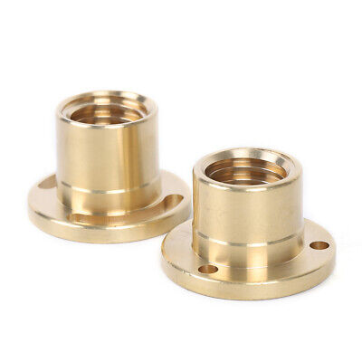 2pcs Milling Machine X Axis Screw Copper Sleeve Nut Vertical Mill Tool 32mm