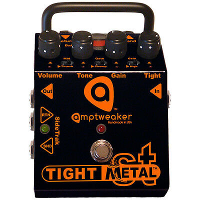 Amptweaker Tight Metal ST Distortion Guitar Effects Pedal with -