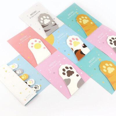15pcs Kawaii Cartoon Post Note Cat Claw Memo Pad Sticky Paper Maker Adhesive