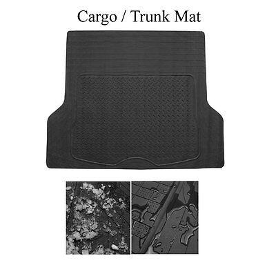 Brand New Semi Custom Black Rubber Cargo Trunk Floor Mats For Ford ()